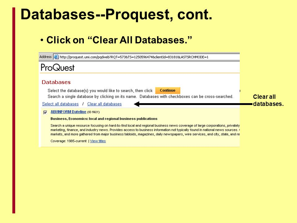 Databases--Proquest, cont.