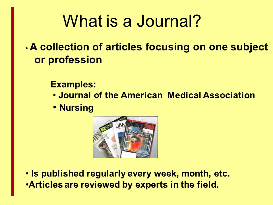 What is a Journal or profession Nursing Examples: