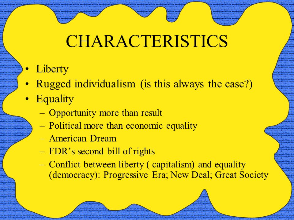 3 Characteristics Liberty Rugged Individualism