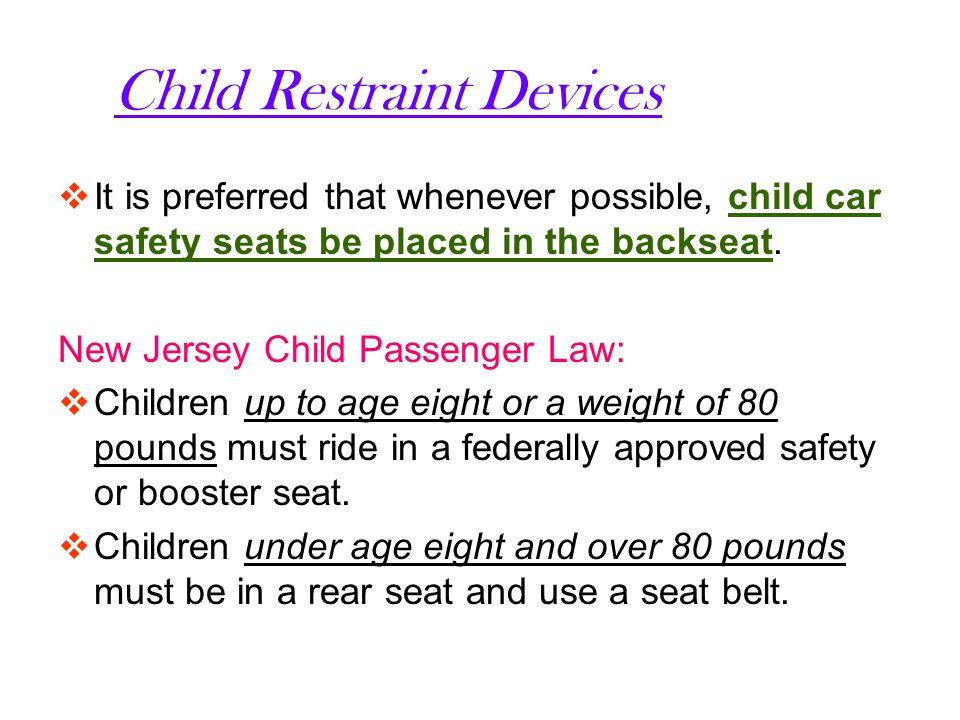 New Jerseys Seat Belt Law