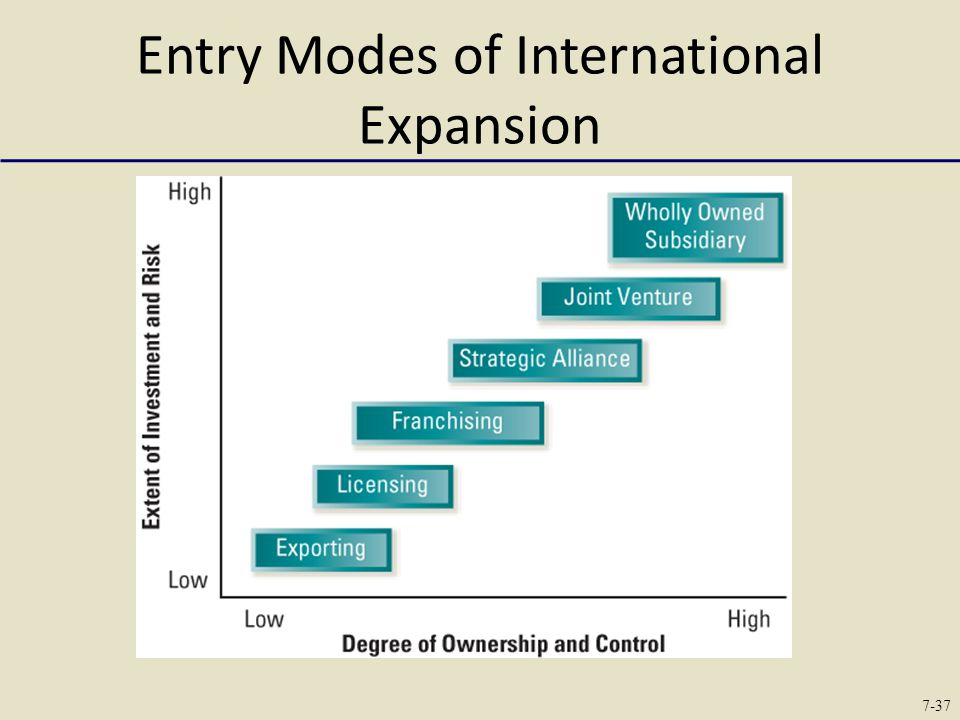 Entry Modes of International Expansion