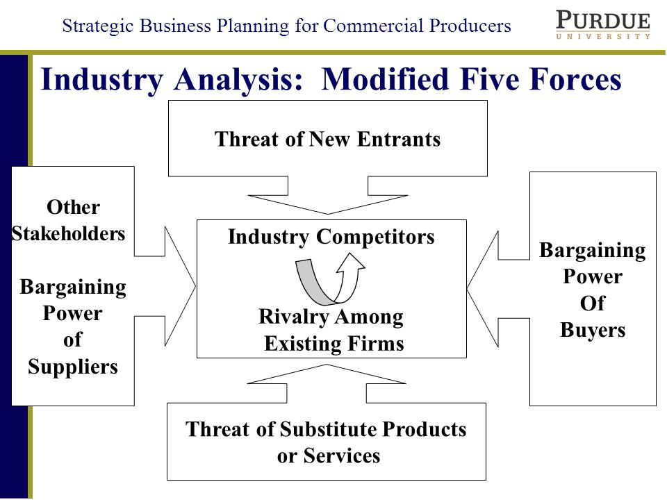 Industry Analysis: Modified Five Forces