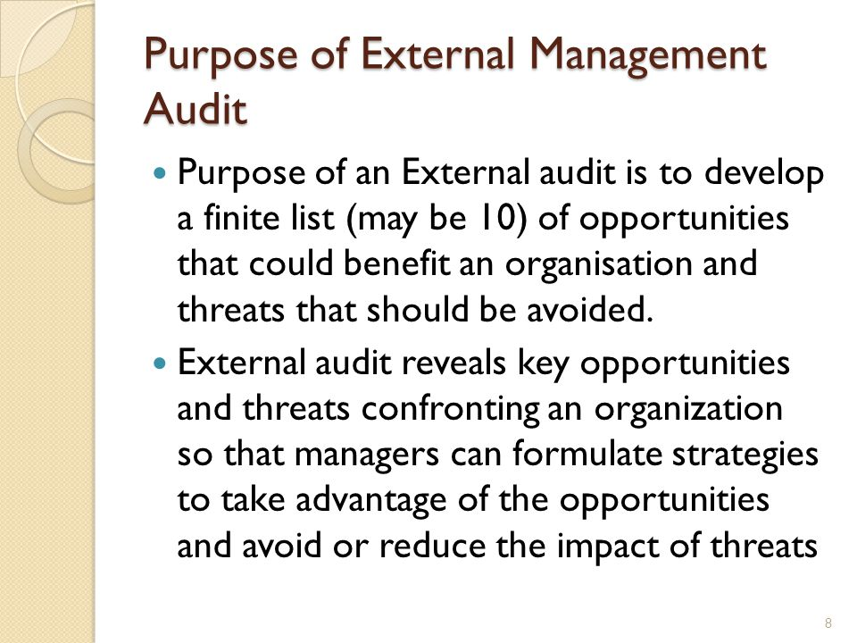 Assessment of Organization's External Environment - ppt