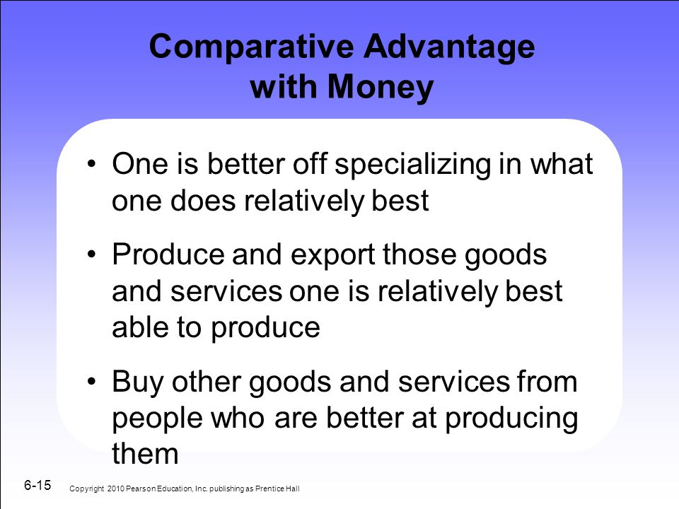 Comparative Advantage with Money