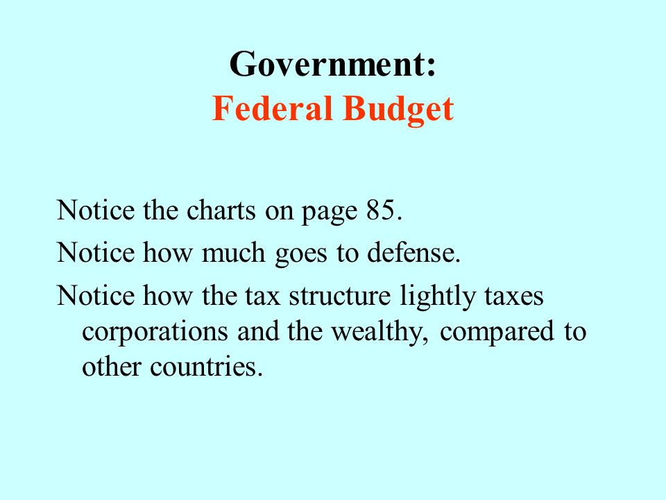 Government: Federal Budget