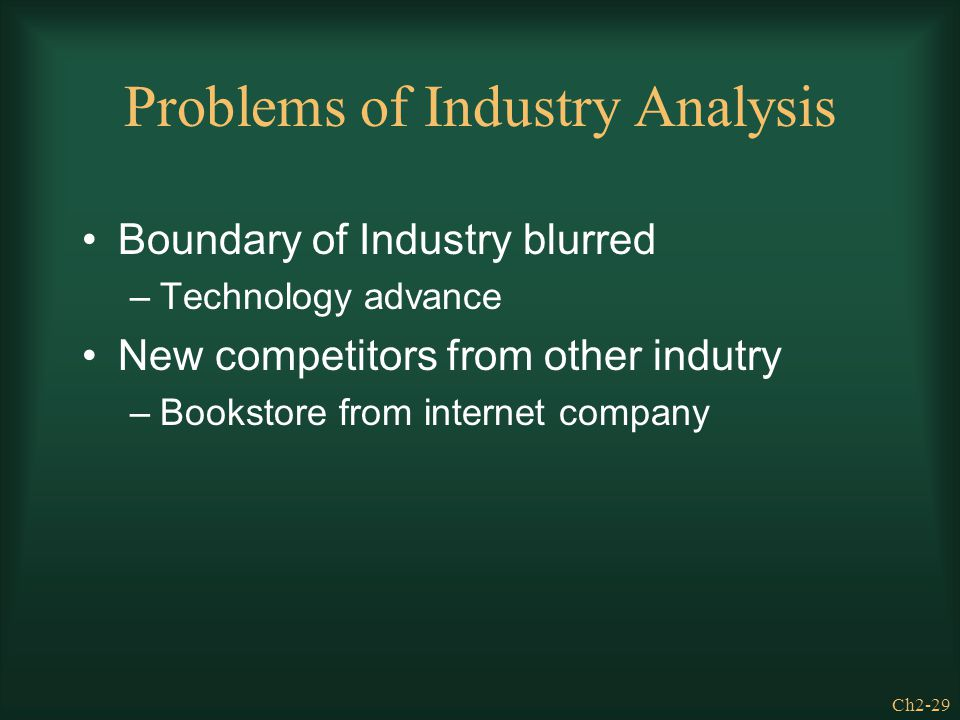 Problems of Industry Analysis