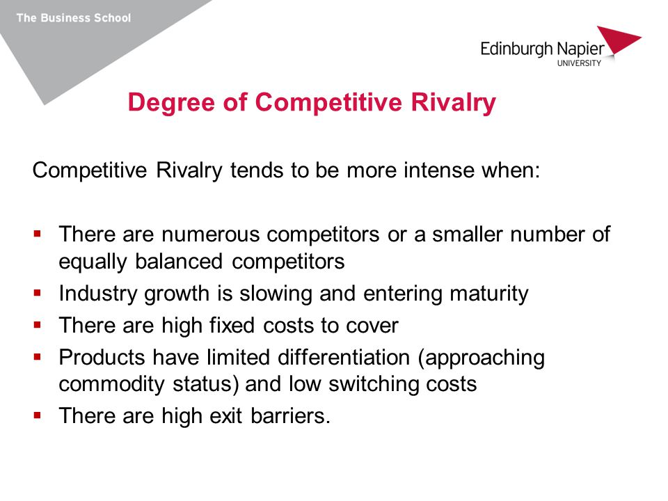 Degree of Competitive Rivalry