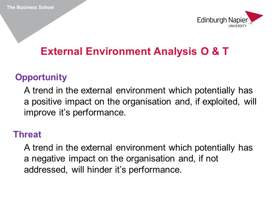 External Environment Analysis O & T