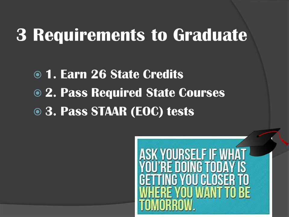 3 Requirements to Graduate
