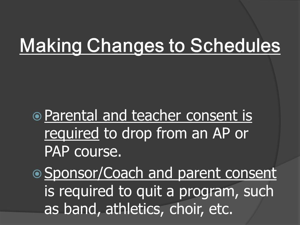 Making Changes to Schedules