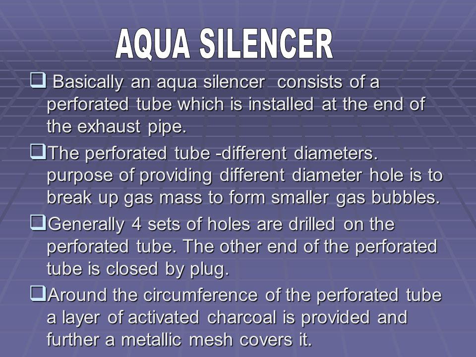 research paper on aqua silencer pdf