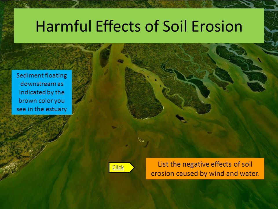 effects of erosion significance of soil Effects of erosion reduction of soil fertility repeated erosion washes away the topsoil the top soil is loaded with nutrients and organic matter critical for crop growth extensive erosion also minimizes the depth of soil available for water storage and rooting.