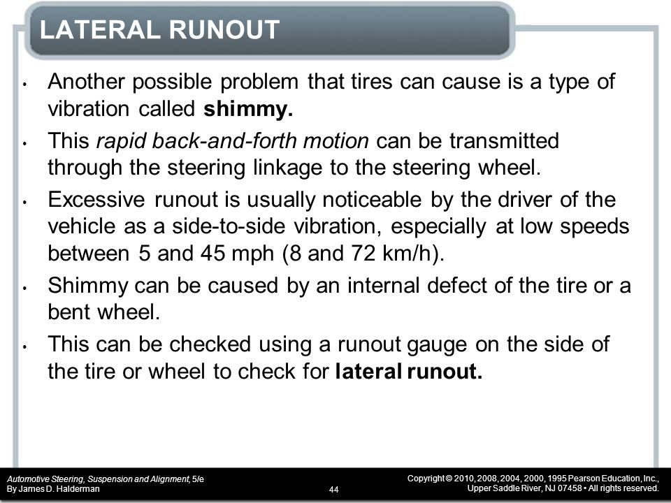 lateral runout also called
