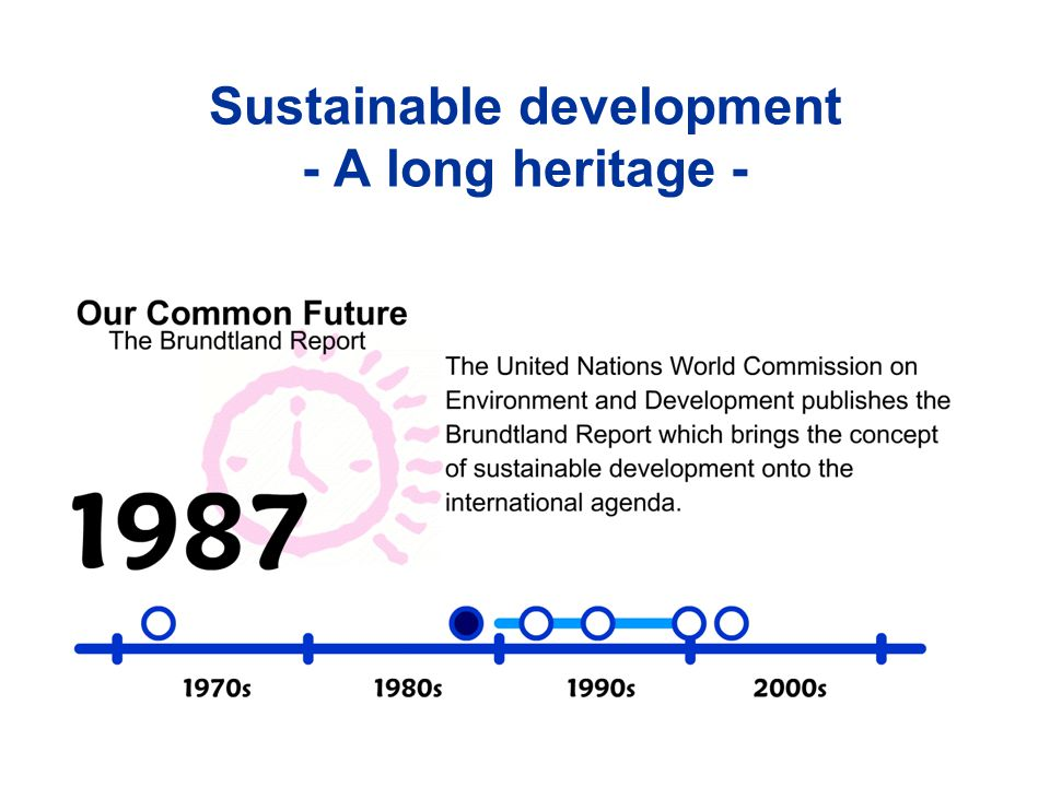 Sustainable development - A long heritage -