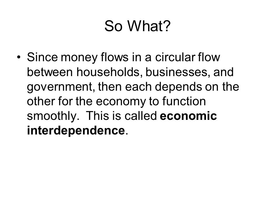 A Circular Flow Diagram Ppt Download