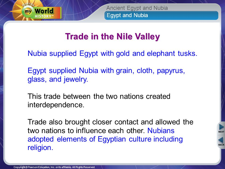 trade between egypt and nubia