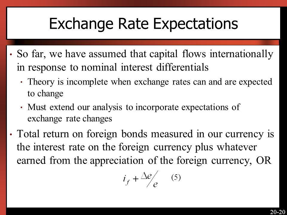 Exchange Rate Expectations