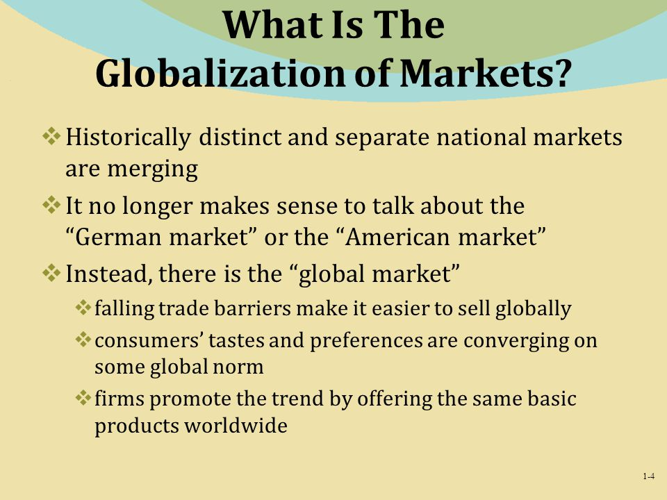 What Is The Globalization of Markets