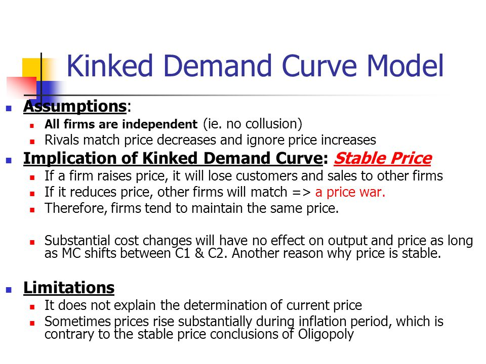 explain the kinked demand curve