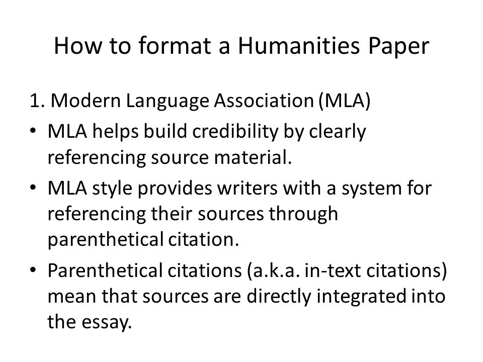 Essay Writing On Newspaper How To Format A Humanities Paper Thesis Essay Example also Examples Of Thesis Statements For Persuasive Essays The Humanities Essay  Ppt Download Reflective Essay Sample Paper