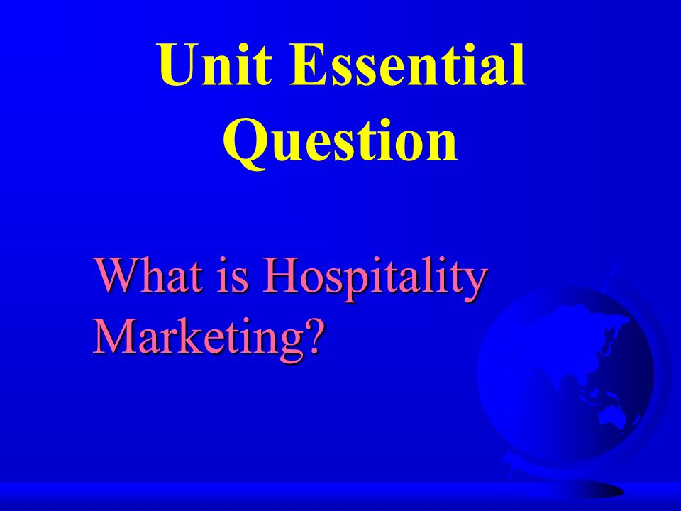 Unit Essential Question