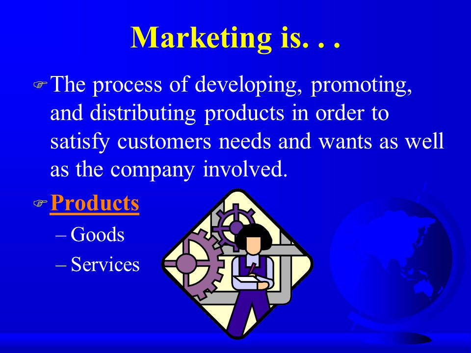 Marketing is. . .