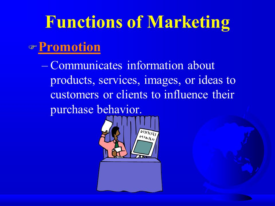 Functions of Marketing