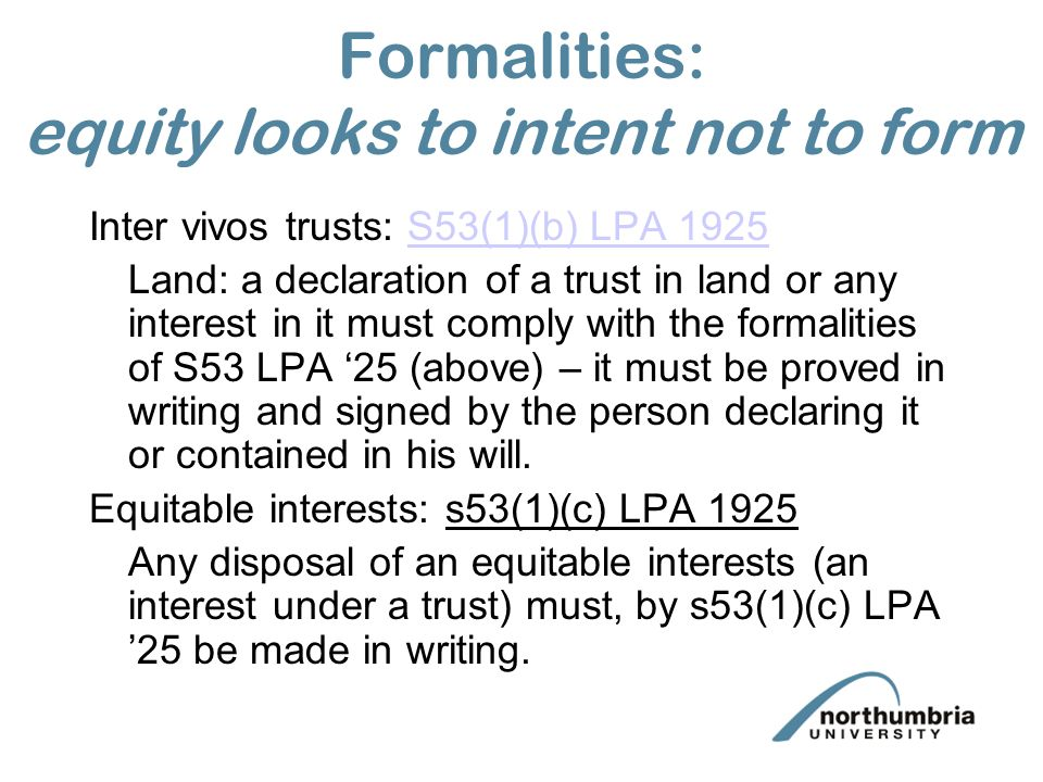 equity looks to intent rather than form