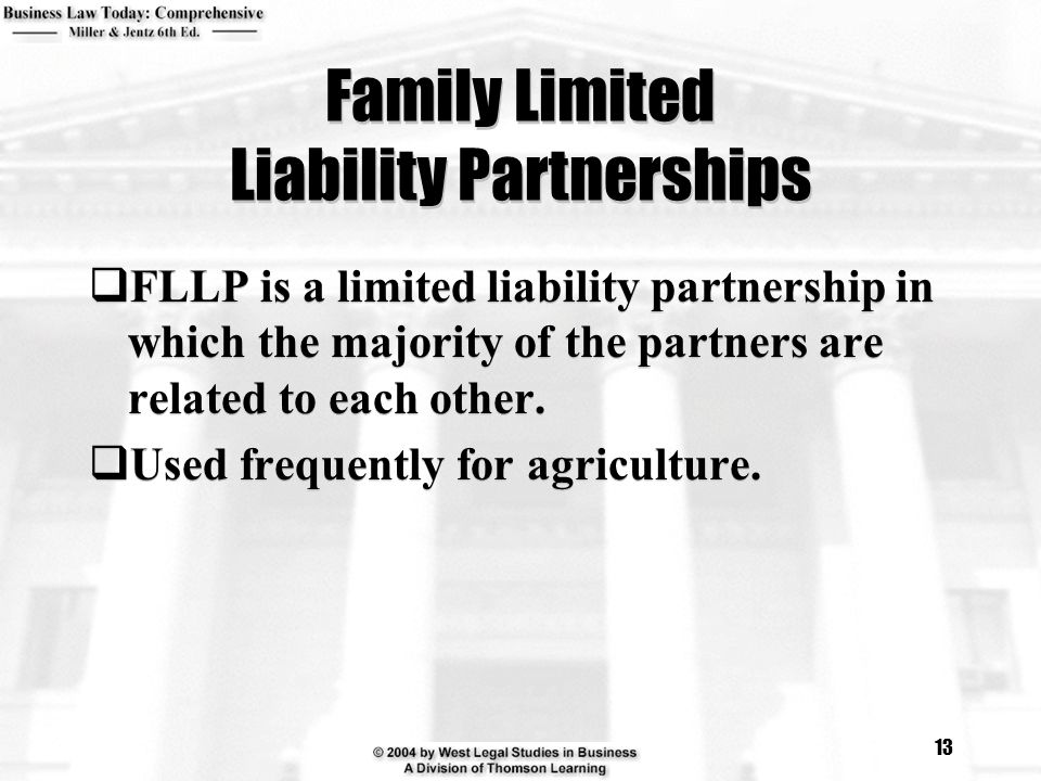 Family Limited Liability Partnerships