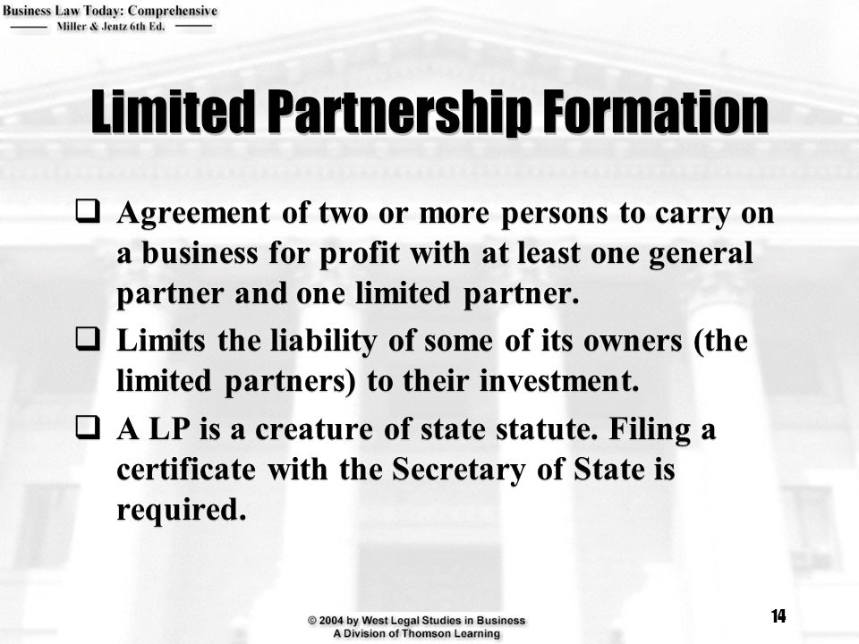 Limited Partnership Formation