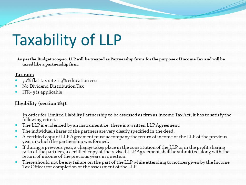 A Private Company To A Limited Liability Partnership Llp Ppt