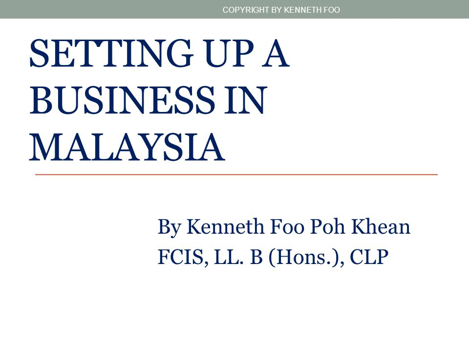 Setting up a Business in Malaysia