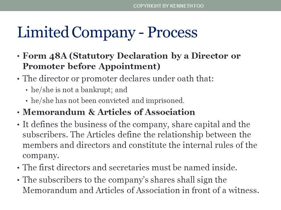 Limited Company - Process