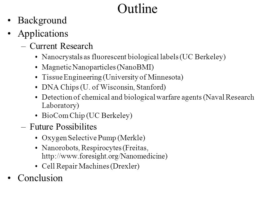 Medical Applications of Nanotechnology - ppt download