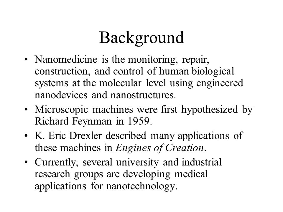 medical applications of nanotechnology ppt download