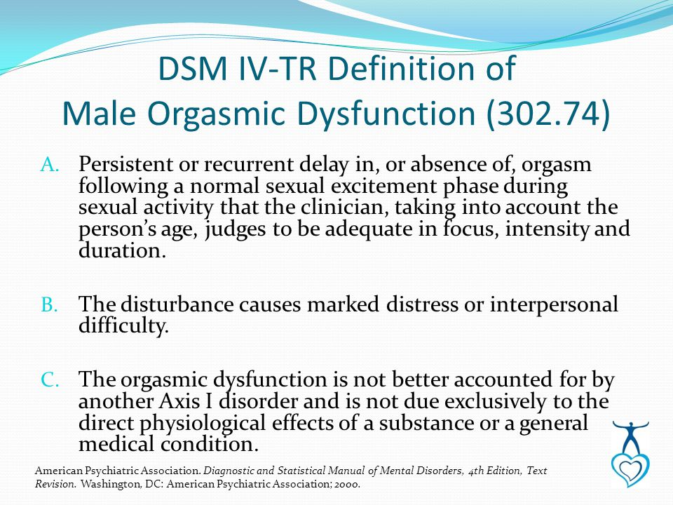 Dysfunction orgasm male