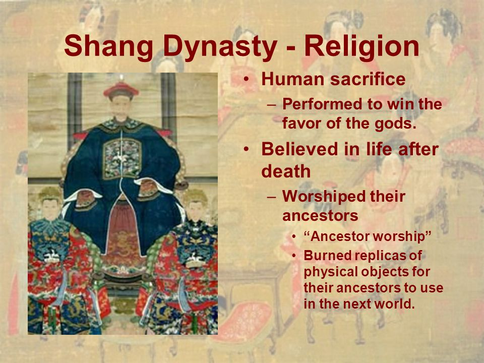 Shang Dynasty - Religion