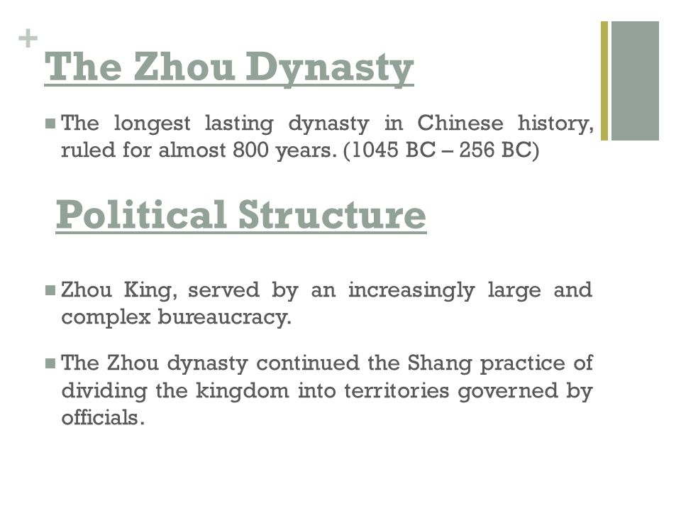 The Zhou Dynasty Political Structure