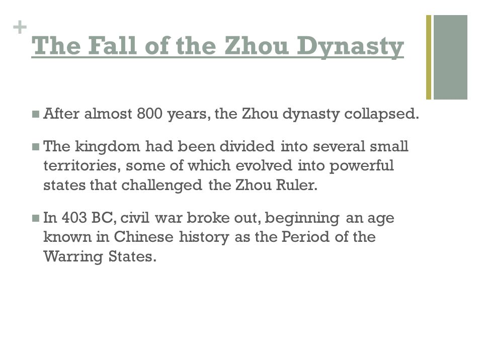 The Fall of the Zhou Dynasty