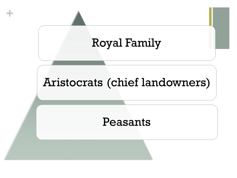 Aristocrats (chief landowners)