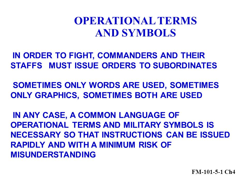 Military Terms And Symbols Ppt Video Online Download