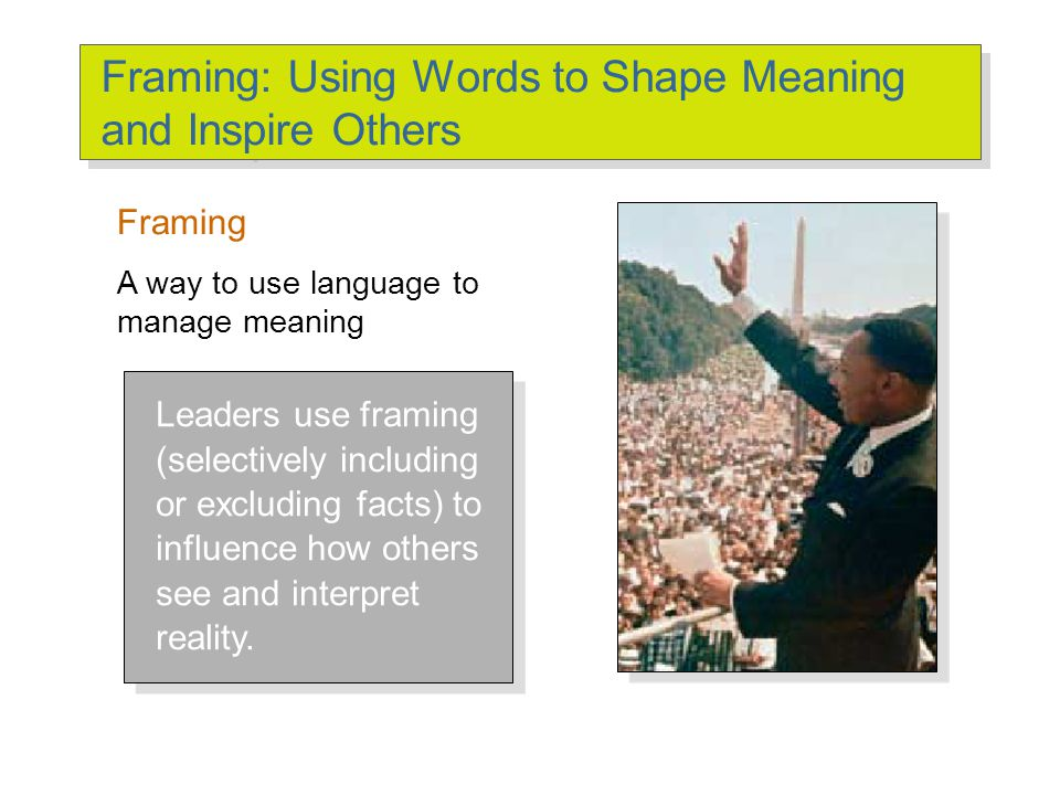 Framing: Using Words to Shape Meaning and Inspire Others - ppt download