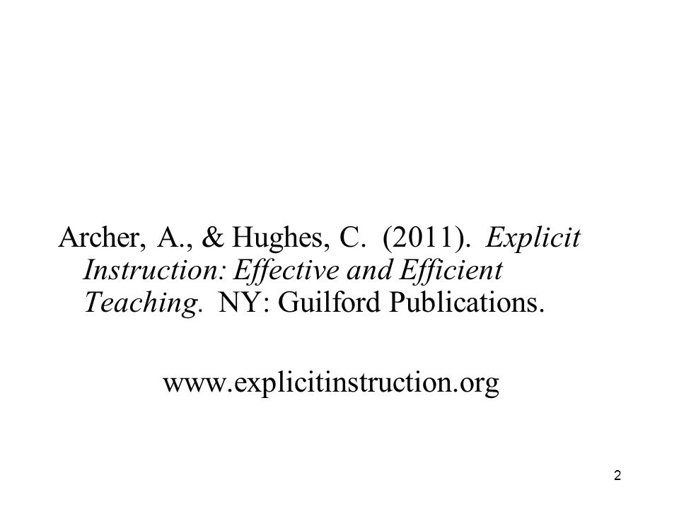 Explicit Instruction Effective And Efficient Instruction Ppt