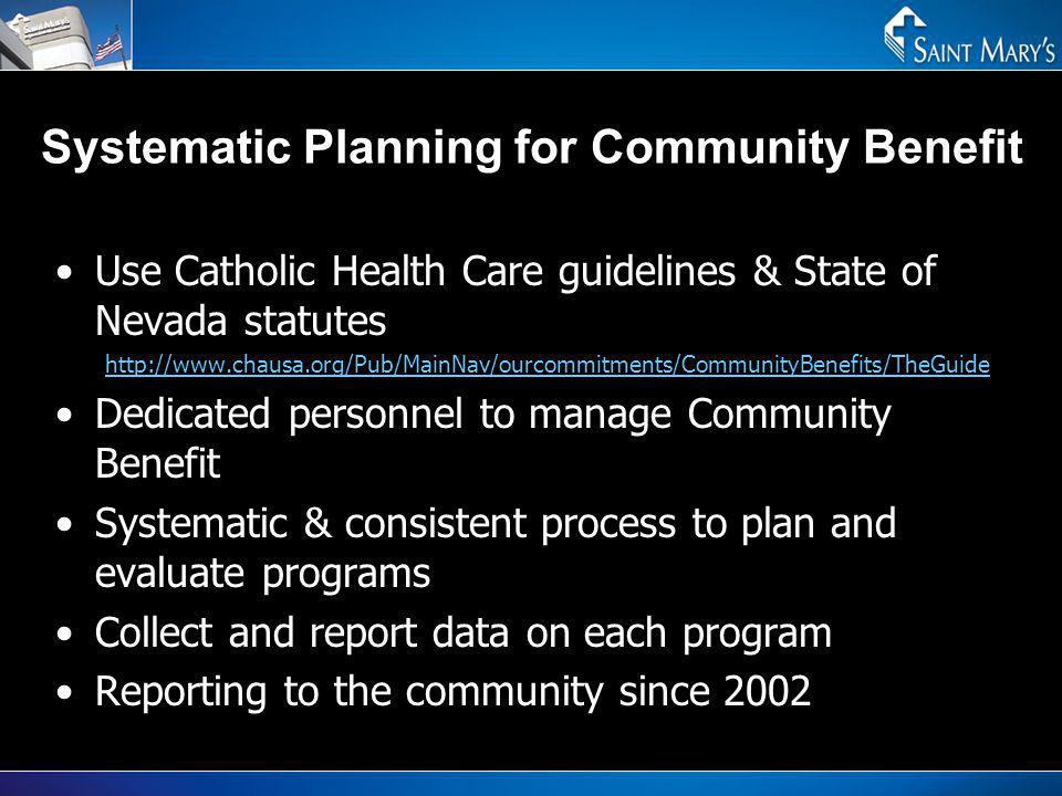 Systematic Planning for Community Benefit
