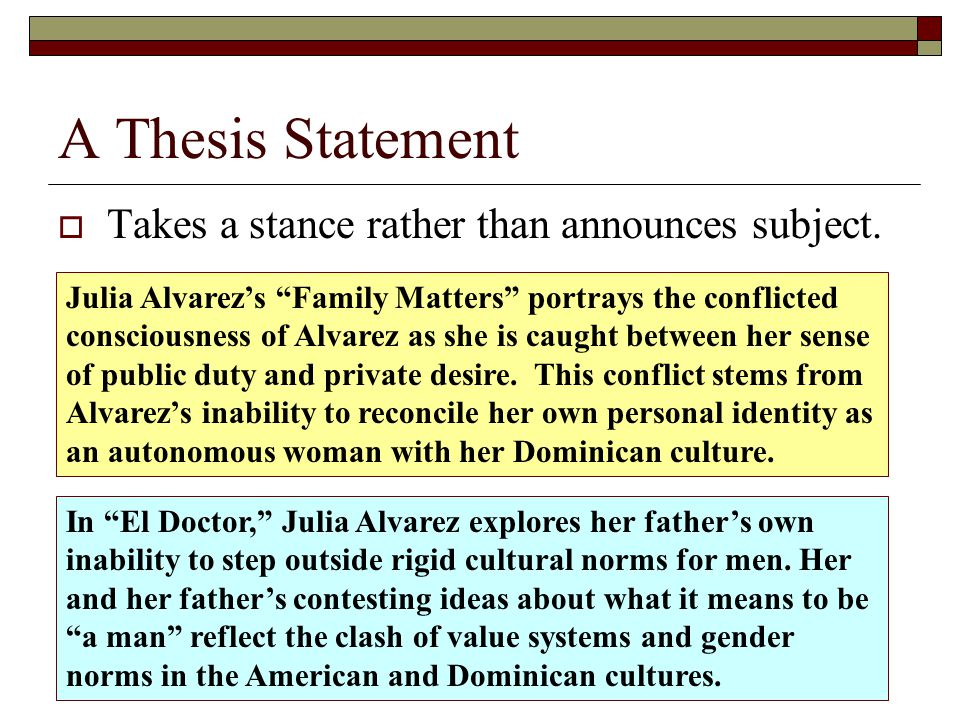 thesis statement about culture