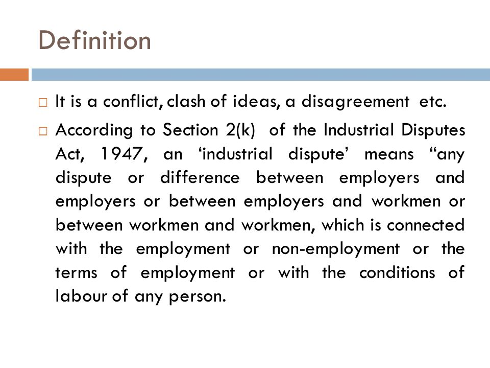 what is industrial conflict definition