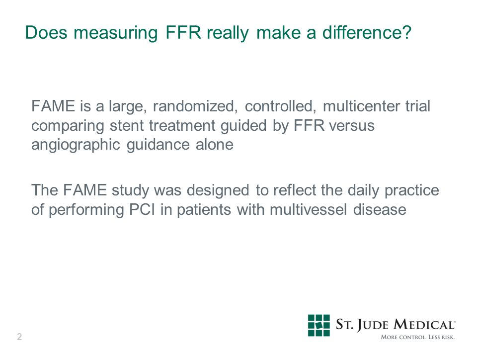 Does measuring FFR really make a difference