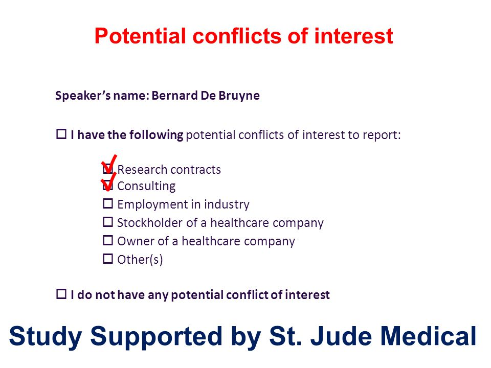 Study Supported by St. Jude Medical