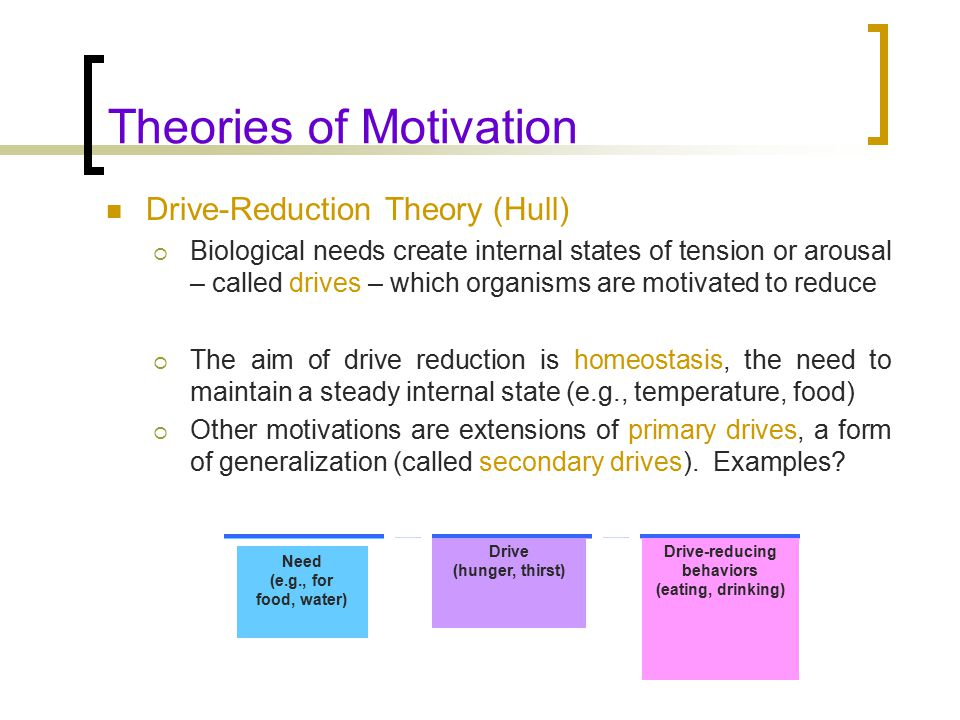history of motivation Summary: self-determination theory is a theory of motivation and personality that addresses three universal, innate and psychological needs: competence, autonomy, and psychological relatedness.