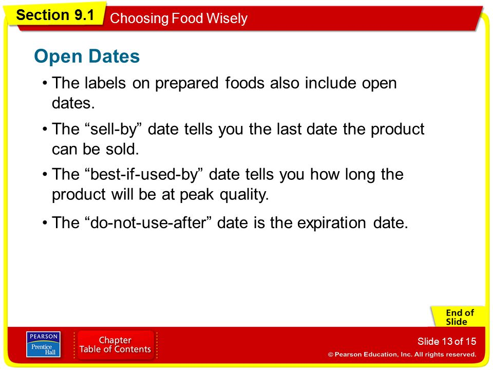 Oregon Department of Agriculture Decoding Food Product Dates